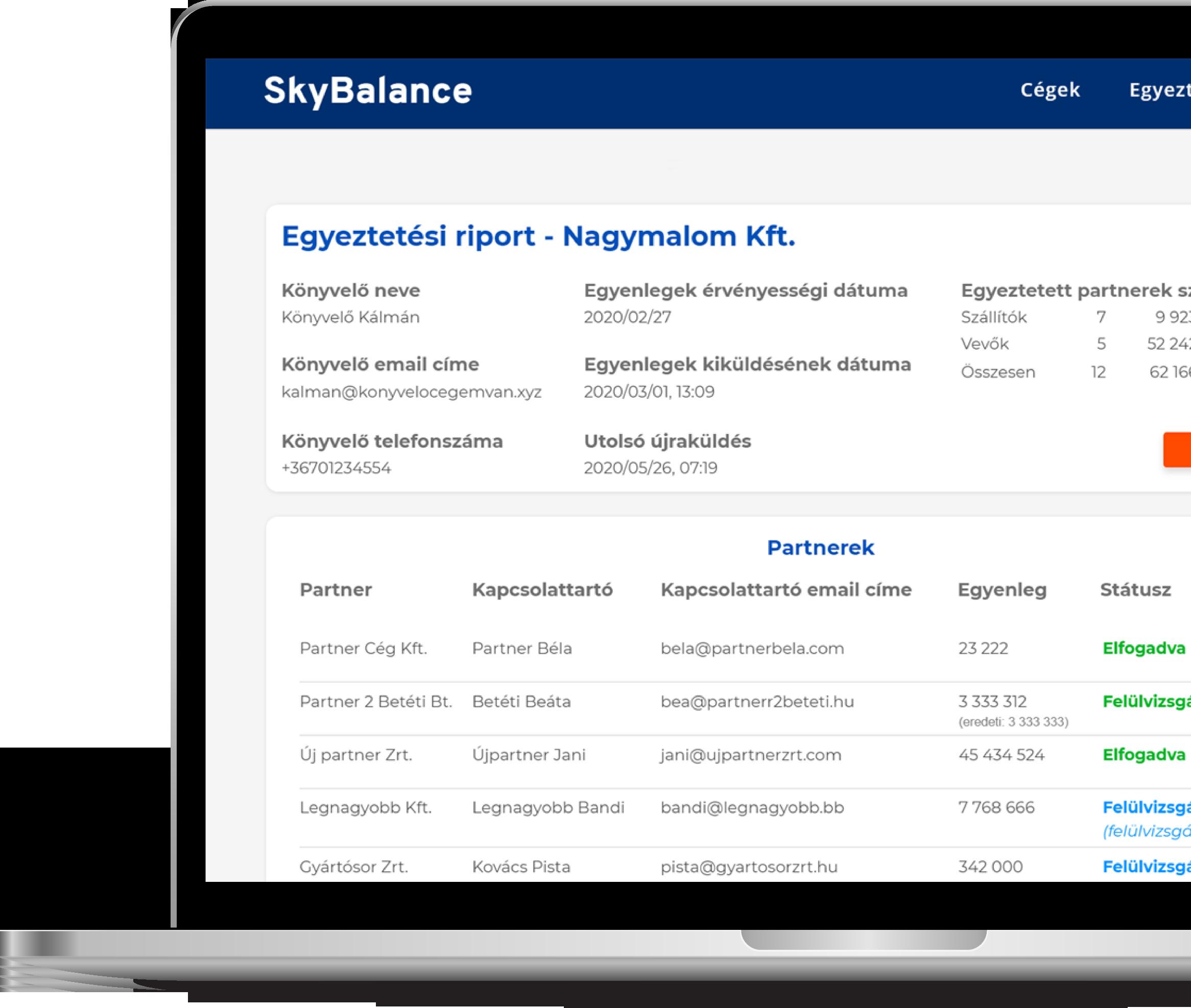 egyenleg egyeztetés skybalance